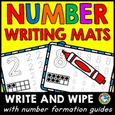 PRESCHOOL NUMBER WRITING PRACTICE MATS (CORRECT FORMATION WORKSHEETS)