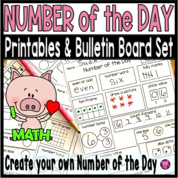 Number of the Day Worksheets  and Bulletin Board Set