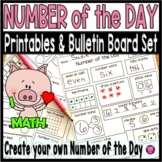 Kindergarten and First Grade Number of the Day Worksheets and Activities Set