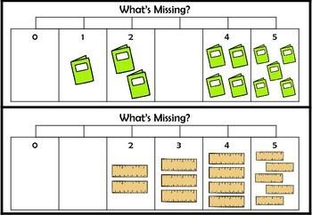 Numberline Puzzles to 10 - School Supplies