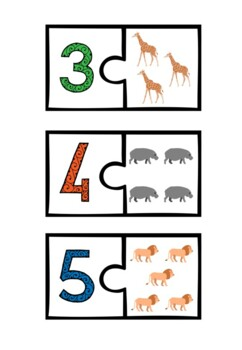 NUMBERS 0-10 ANIMAL PUZZLE