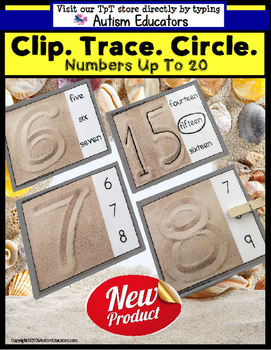 NUMBERS and Tracing Fine Motor TASK CARDS for AUTISM and Special Needs