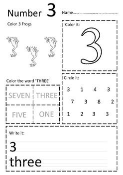 NUMBERS 1-10 WORKSHEETS