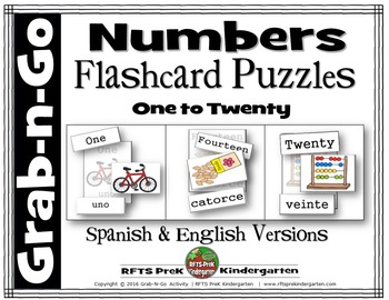 NUMBERS 1-20 LEARNING PUZZLES. (Grab-n-Go $1 Deal)