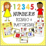 NUMBERS 1-5 TALLIES, DICE, FIVE FRAMES, FINGERS BINGO & MATCHING