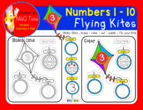 NUMBERS 1 to 10 FLYING KITES