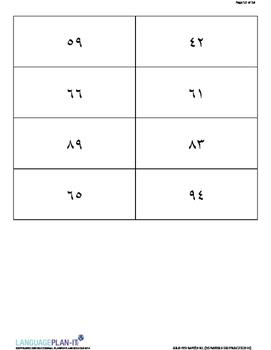 NUMBERS -100 PRACTICE (ARABIC-HINDI)