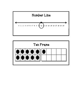 NUMBERS 11 - 20 Anchor Charts - Interactive, Customizable