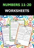 NUMBERS 11-20 WORKSHEETS