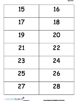 NUMBERS -30 PRACTICE (SPANISH 2017 EDITION)