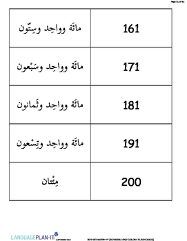 NUMBERS AND COLORS FLASHCARDS(ARABIC 2015 EDITION)