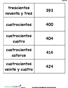 NUMBERS AND COLORS FLASHCARDS (SPANISH)