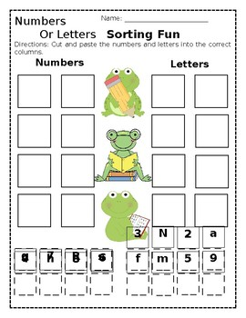 NUMBERS AND LETTERS SORTING