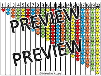 NUMBER SENSE MATH CENTER ACTIVITY (PICTURE NUMBER LINE TO 20)
