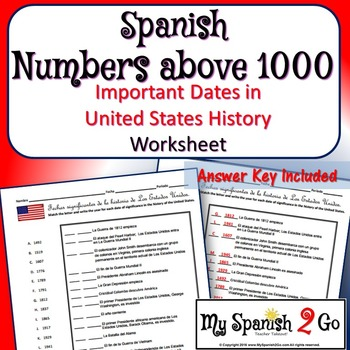 NUMBERS AND U.S. HISTORY IN SPANISH