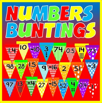 NUMBERS BUNTINGS - DISPLAY 10-100 DECIMALS NEGATIVE NUMBER