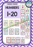 Back To School - NUMBER CHART 1-20 - Owl - Classroom Decor - Chevron
