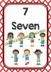 Back To School NUMBER CHART - Kids - Classroom Decor - Moroccan