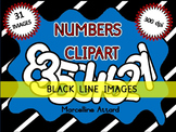 NUMBERS CLIPART WITH A WHITE FILL: NUMBER TEMPLATES CLIPAR