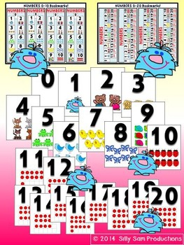 NUMBERS & COLORS Classroom Posters & Bookmarks