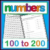WORKING WITH NUMBERS FROM 100 - 200