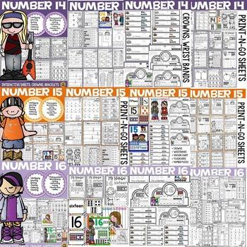 NUMBERS: NUMBER SENSE: 11 TO 20 BUNDLE