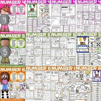 NUMBERS: NUMBER SENSE: NUMBERS 1 TO 10 BUNDLE