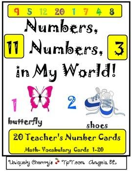 NUMBERS, NUMBERS, in MY WORLD!  PRE-K- KINDERGARTEN