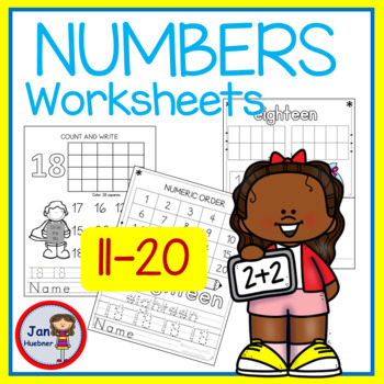 Writing Numbers  11-20 Practice