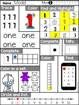 NUMBERS REVIEW 1-20