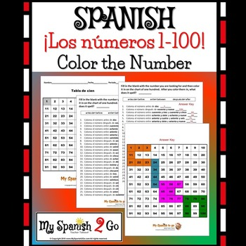 numbers spanish 1 100 wor by my spanish 2 go teachers pay teachers. Black Bedroom Furniture Sets. Home Design Ideas