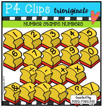 NUMBERS Stamps (P4 Clips Trioriginals Clip Art)