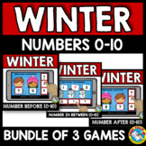 NUMBERS TO 10 BOOM CARDS BUNDLES (WINTER ACTIVITY PRESCHOOL DECEMBER MATH)