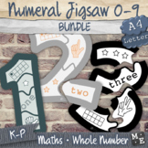 NUMBERS TO 10 BUNDLE Reading Numerals Jigsaw Puzzles 0 to 9 Printable Activities