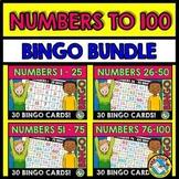 NUMBERS TO 100 BINGO BUNDLE (NUMBER RECOGNITION ACTIVITIES)