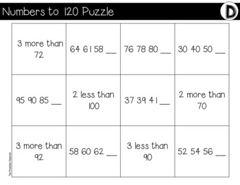 NUMBERS TO 120 File Folder Puzzles Ocean Theme