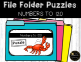 Place Value and Number Patterns to 120 File Folder Puzzles Ocean Math Theme