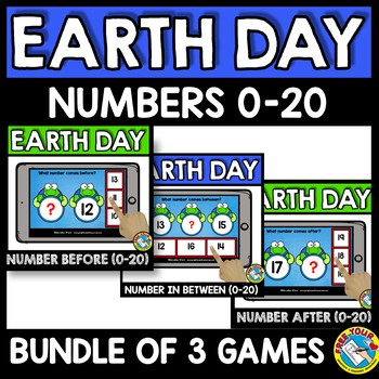 NUMBERS TO 20 BOOM CARDS BUNDLES (EARTH DAY ACTIVITY KINDERGARTEN APRIL MATH)