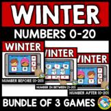NUMBERS TO 20 BOOM CARDS BUNDLES (WINTER ACTIVITY KINDERGARTEN DECEMBER MATH)