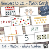 NUMBERS TO 20 Numeral Word Tally Tens Frame MAB Subitising Printable Flash Cards