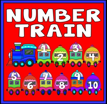 NUMBERS TRAIN- FLASHCARDS 1-100 TEACHING RESOURCES EYFS KS