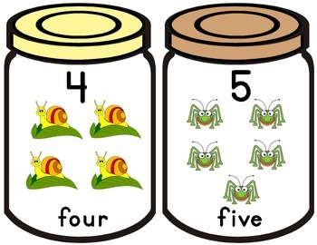 NUMBERS WITH BUGS AND JARS