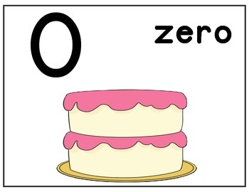 NUMBERS WITH CAKE AND CANDLES