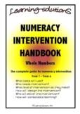 NUMERACY INTERVENTION HANDBOOK