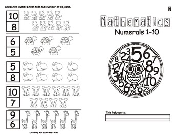 NUMERALS 1 to 10 for Kindergartners