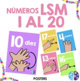 Números del 1 al 20 en LSM - Minders Bilingual Resources