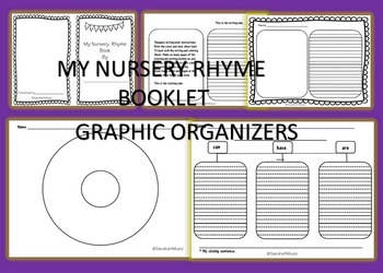 Nursery Rhyme Literacy Bundle with Puppets, Booklets, and Writing Activities.