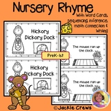 NURSERY RHYME: Hickory Dickory Dock Reader w/Activities