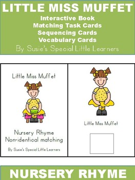 LITTLE MISS MUFFET ADAPTED BOOK & MORE FOR AUTISM
