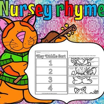 NURSERY RHYME PICTURE SORT(sample)